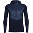 """Icebreaker M's Ellipse LS Half Zip Hood Midnight Navy/Rocket"""